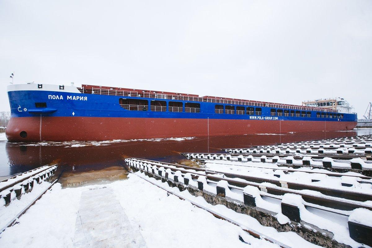 141-метровый сухогруз «Пола Мария» спустили на воду в Сормове - фото 1