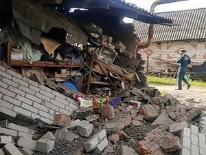 Часть здания обрушилась в Перевозе из-за взрыва газового баллона