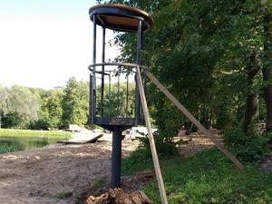 Спасательную вышку установили на Первом озере Щелоковского хутора