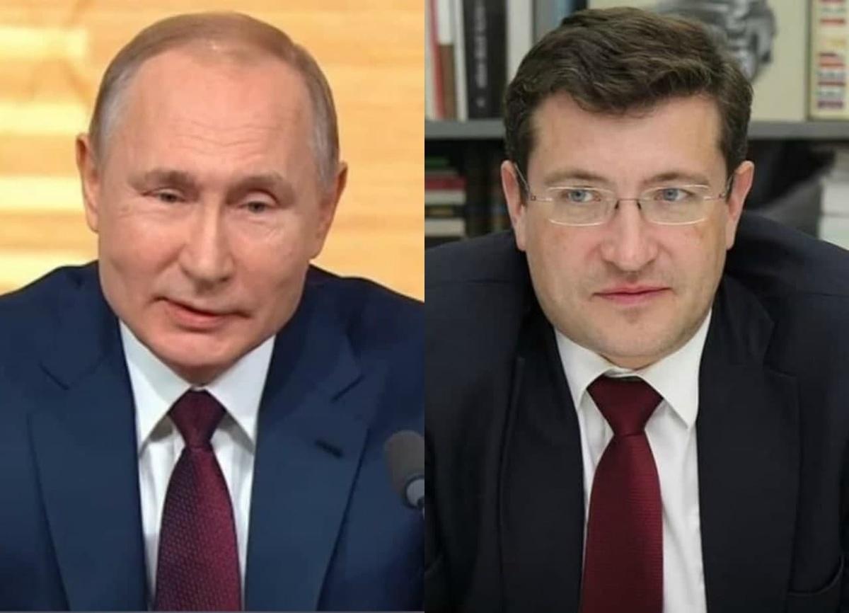 Путин и Никитин ждут очередь на прививку от коронавируса