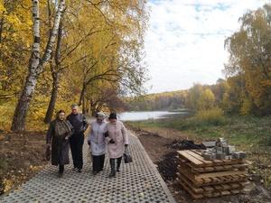 Приокчане оценили обновленные территории Щелоковского хутора