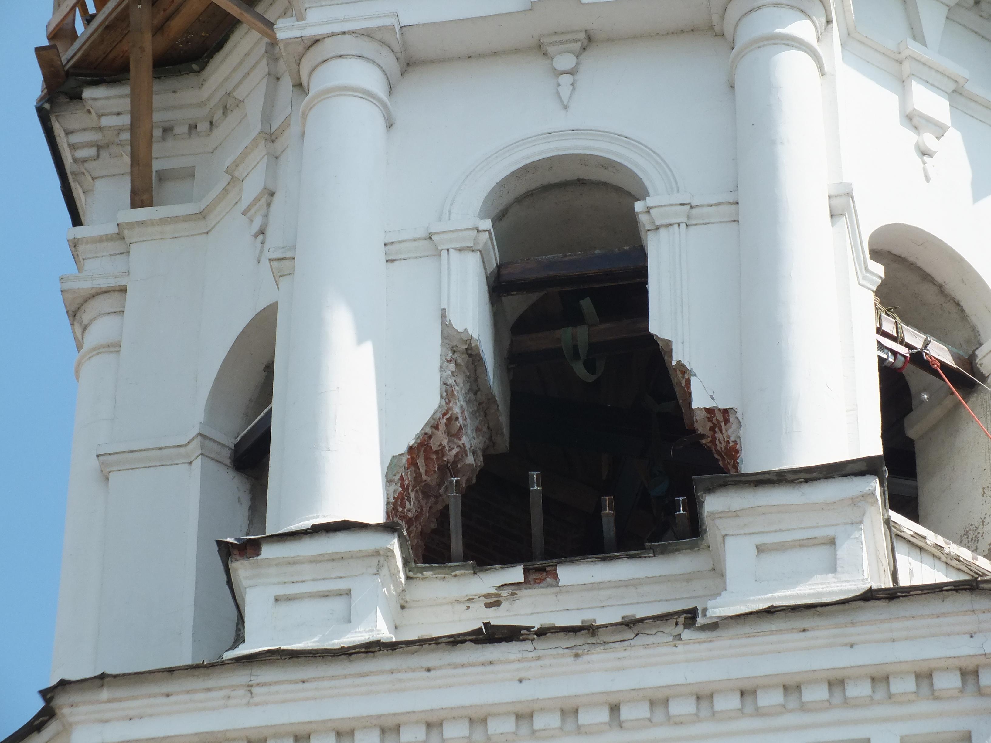 ВНижнем Новгороде вСпасо-Преображенской церкви установили возрожденные храмовые колокола