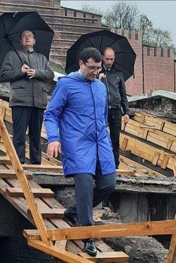 Никитин проинспектировал ход благоустройства Нижегородского кремля - фото 1