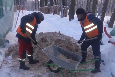 Часть работ в нижегородском парке «Швейцария» приостановлена из-за морозов