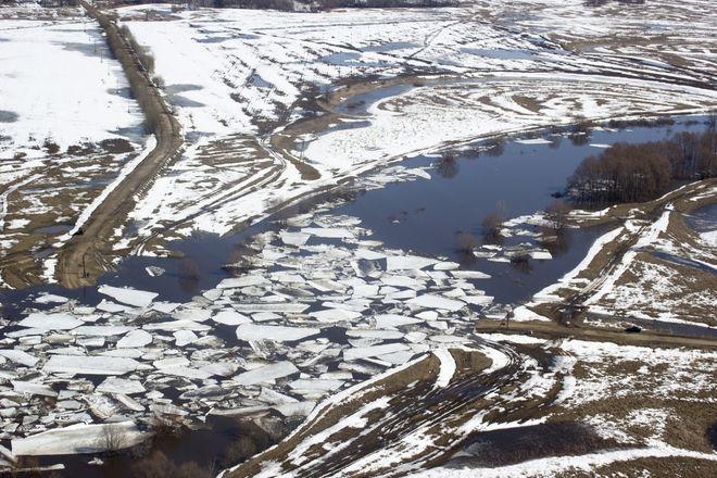 Ледоход на Оке начался в Нижегородской области - фото 1