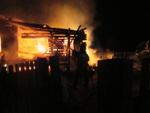 Пенсионерка отравилась дымом на пожаре в Балахнинском районе