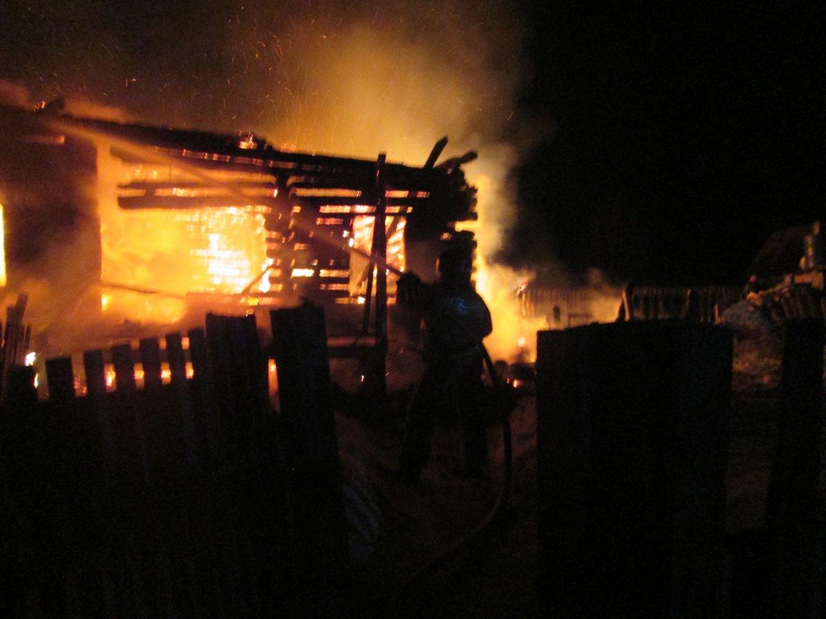 Женщина пострадала в пожаре на Бору - фото 1