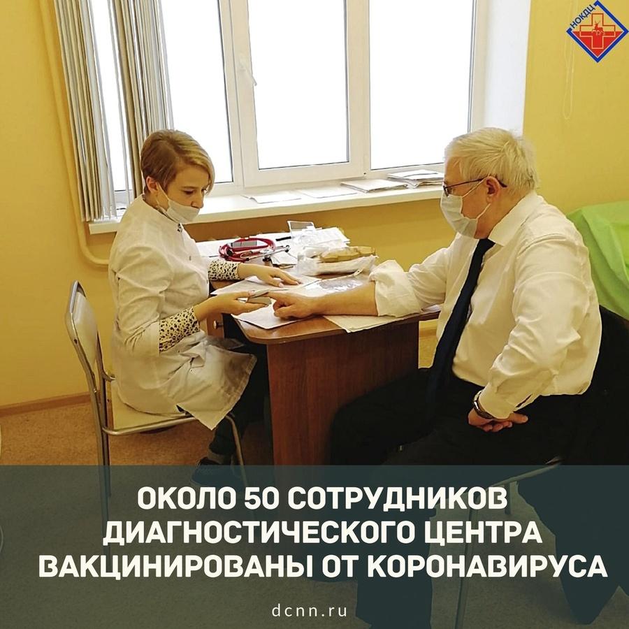 Около 11% сотрудников нижегородского диагностического центра вакцинировались от COVID-19 - фото 1