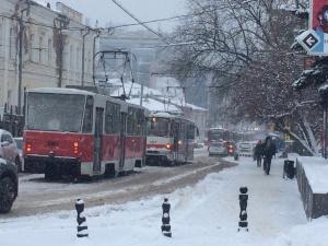 Трамвай №7 протаранил «Опель» в Московском районе