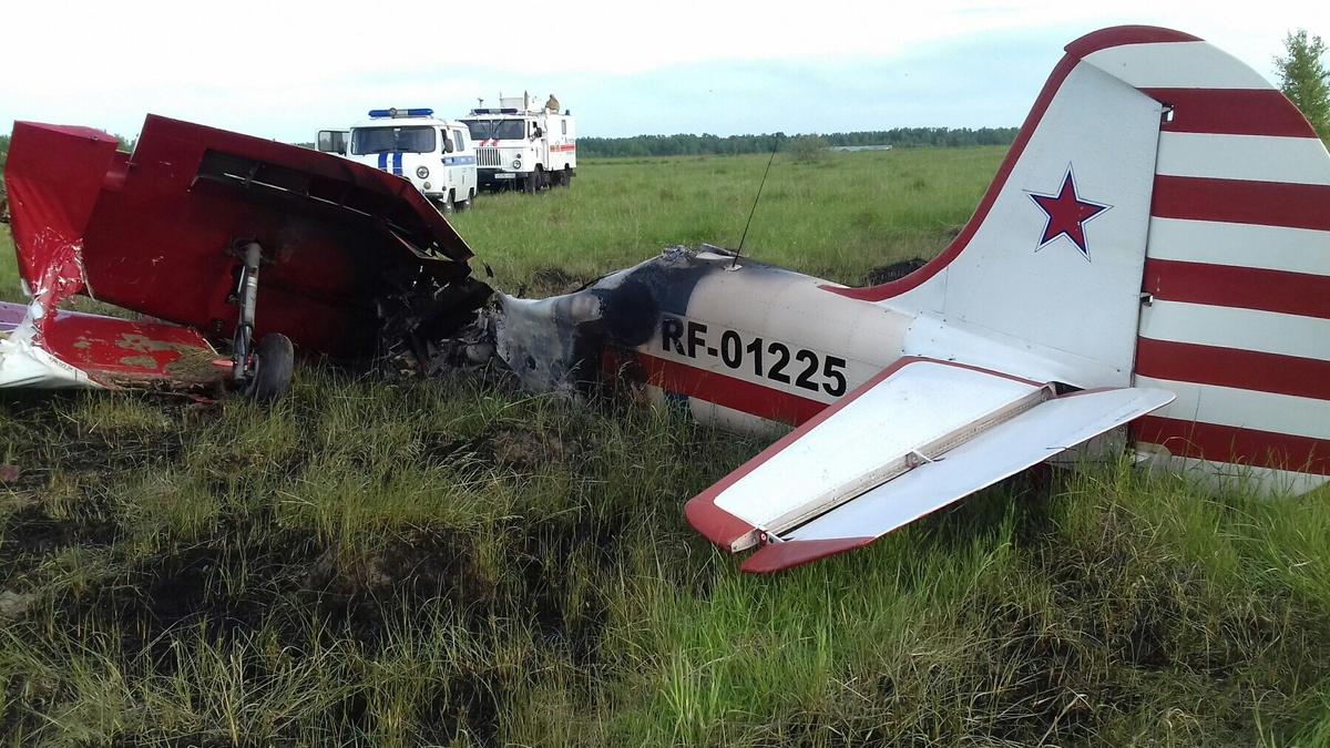 Самолет загорелся в Богородском районе - фото 1