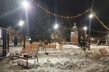 Благоустроенный сквер Свердлова готовится к открытию в Нижнем Новгороде