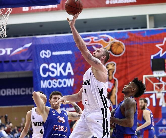 Баскетбольный клуб «Нижний Новгород» уступил московскому ЦСКА