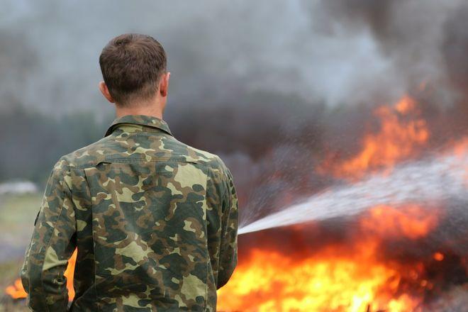 На вертолетах и квадроциклах: пожарные боролись с условным лесным возгоранием под Дзержинском - фото 5