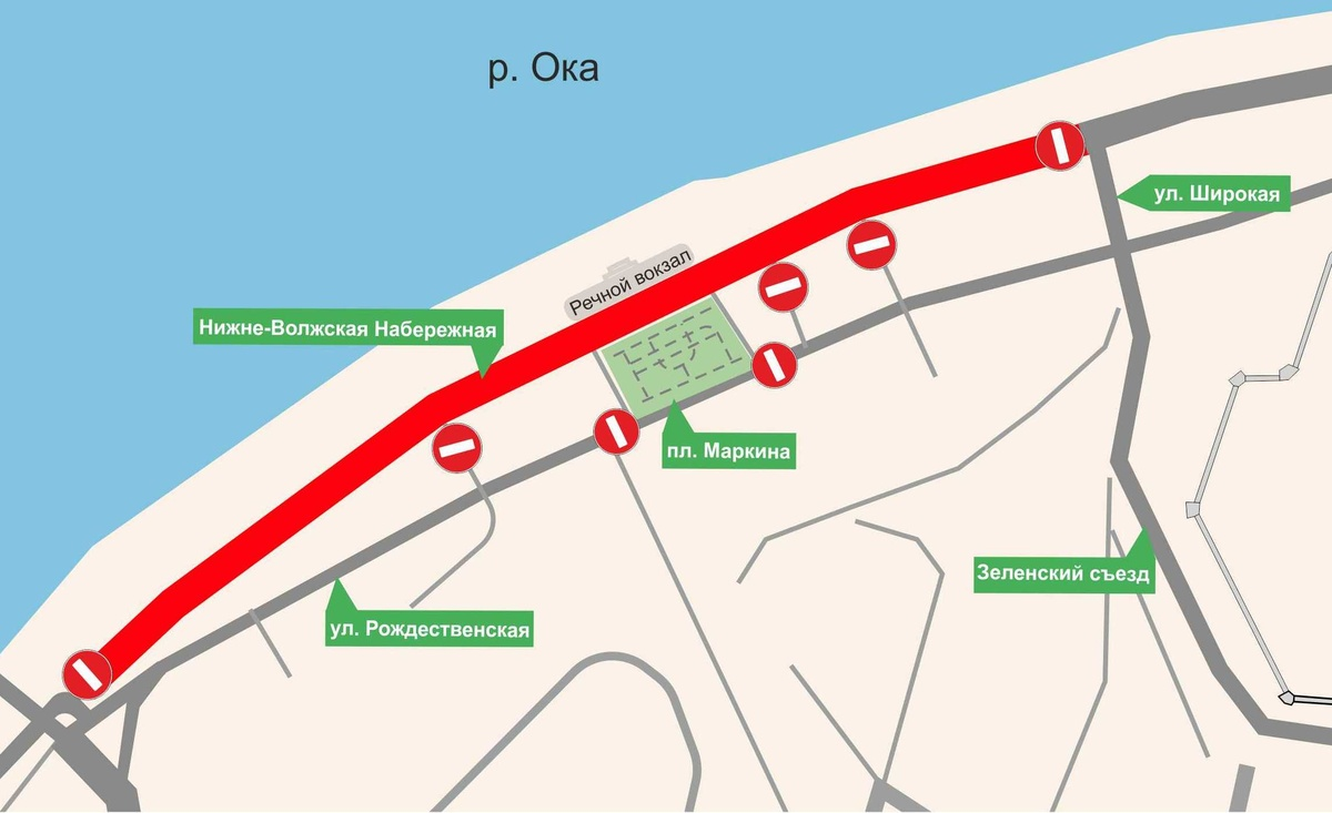 Движение транспорта и автобусов будет приостановлено на Нижне-Волжской набережной 18 сентября - фото 1